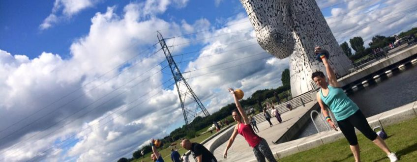 kettlebell sport at the kelpies